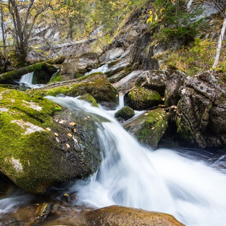каскад водопадов на реке Шишок, Алтайский край